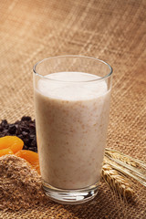 Yogurt with wheat bran as a drink for improving the digestion pr