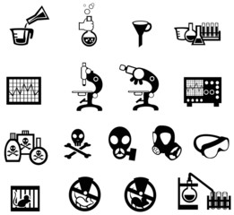 Silhouette science, chemistry, and engineering tool icon set 2 (