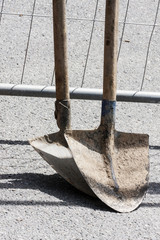 Shovels for construction work