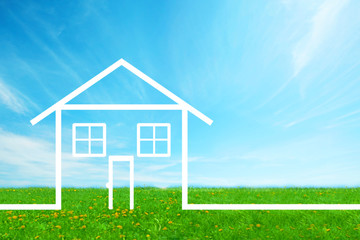 House Real estate background.