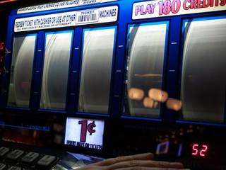 Slot machine at casino, Las Vegas, Nevada, USA