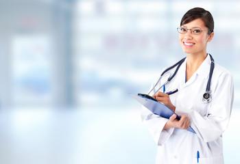 Beautiful doctor woman