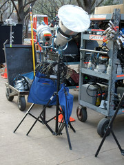 Photography equipments at a film studio