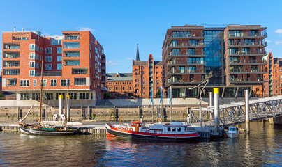 Ships and buildings in Hamburg