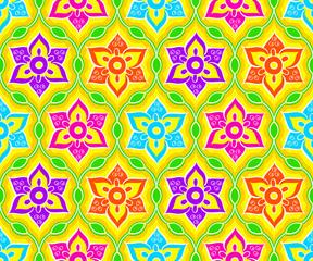 Seamless indian rangoli pattern