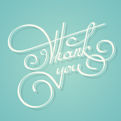 Calligraphy thank you text