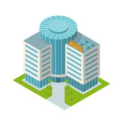 Hotel building isometric