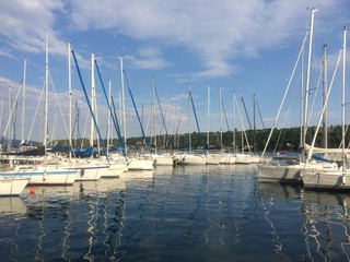 Barche silenziose sul Lago di Garda