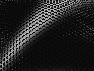 Elegant metallic background with hexagon grid