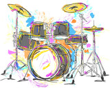 Fototapety Drum Painting Vector Art