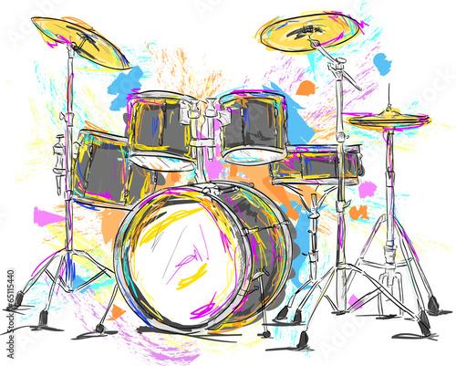 Drum Painting Vector Art