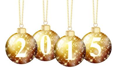 goldene Weihnachtskugeln 2015