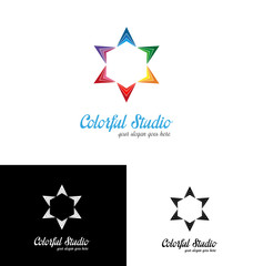Colorful studio logo template