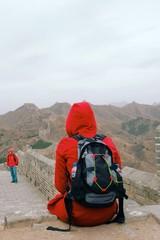 touristen auf der chinesischen Mauer
