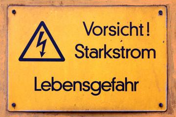 Vorsicht Starkstrom