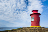 Red lighthouse in Stykkisholmur, Snaefellsnes peninsula, Iceland poster
