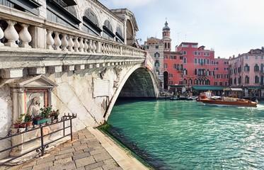 Rialto Bridge with Grand Canal - Venice, Italy
