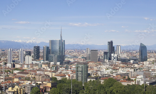 Papiers peints Milan Vista panoramica della città di Milano