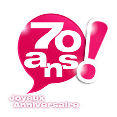 bulle mosaïque : anniversaire 70 ans (cs5)
