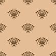 Beige floral seamless pattern background