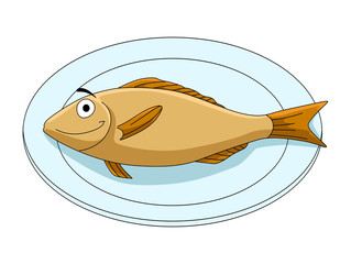 Fish on a platter