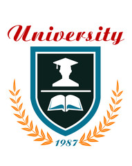 University badge or emblem
