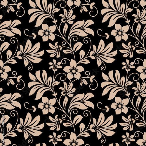 Vintage floral wallpaper seamless pattern