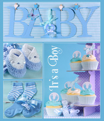 Blue Baby Boy Collage