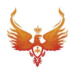 Imperial Phoenix vector image