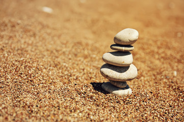 Cairn on the sand
