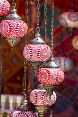 Shop, Oriental style lamps craft in a bazaar