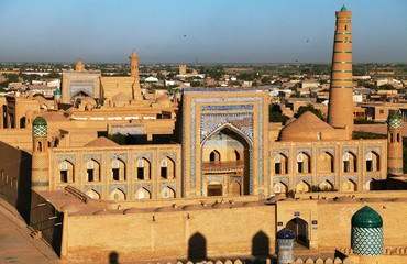 Evening view of Khiva - Uzbekistan - Town on the silk road