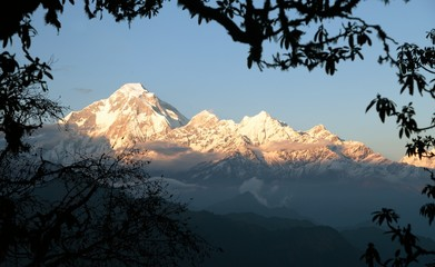 Evening view of mount Dhaulagiri - Nepal