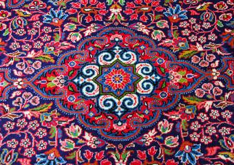 Pink oriental carpet
