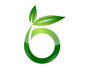 logo symbol icon global nature health leaf initials O b