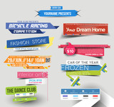 Collection of Sale Discount Styled Website Design Template - 65124676