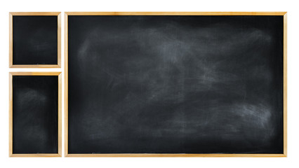 Three Empty Blackboard
