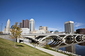 City of Columbus, Ohio with the Rich Street Bridge