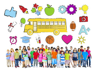 Group of Children and Education Concept