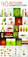 Mega vector set of autumn concepts