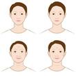 女性の顔の変化