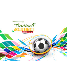 Football Event Poster Graphic Template Vector Background.