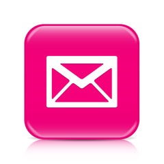 Pink envelope button, icon