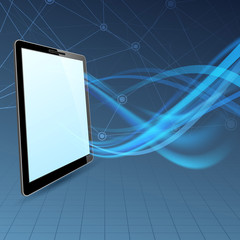 Communication run through tablet device