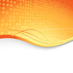 Abstract orange cubic background - geometry