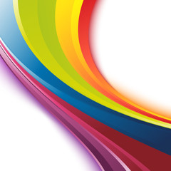 Bright smooth rainbow colorful waves template