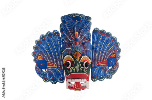 Poster Blue Sri Lankan peacock mask