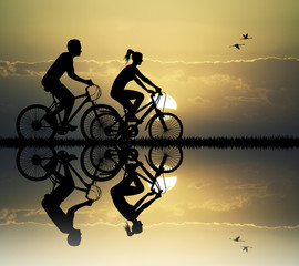 couple on bike
