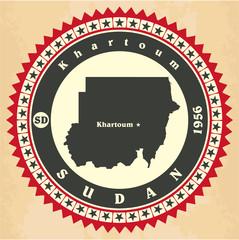 Vintage label-sticker cards of Sudan.