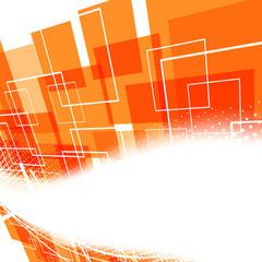 Modern bright orange swoosh background